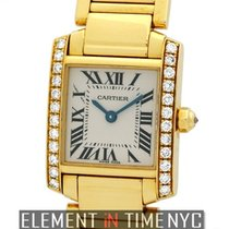 Cartier Tank Collection Tank Francaise 18k YG Diamond Case...