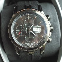 Edox . Grand Ocean Automatic Full Black Chronograph NEW FULL SET
