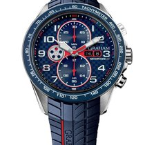Graham Silverstone RS Racing in Black PVD Steel with Blue Bezel