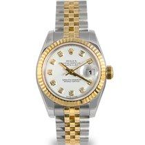 Rolex Datejust Ladies Steel & Gold, White Diamond Dial,Ref...
