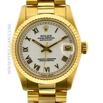 Rolex 18k yellow gold mid-size Datejust