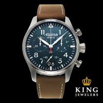 Alpina Startimer Pilot Big Date Chronograph Stainless Steel