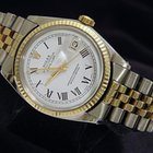 Rolex Datejust 2tone 14k Yellow Gold/ss Watch W/white Dial 1601