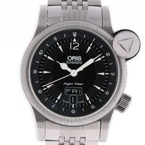 Oris Flight Timer Day Date Stahl Automatik Stahlband 42mm
