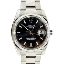 Rolex Oyster Perpetual 115210-BLKSFO 34mm Black Index Engine-T...