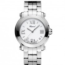 Chopard 278477-3002 Happy Sport 36mm Diamonds Steel Lady