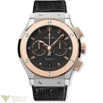 Hublot Classic Fusion Chronongraph Black Dial Black Leather...