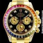 Rolex Rainbow Daytona 116598 Rbow 18k Diamonds Sapphires