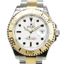Rolex Yacht Master Gold And Steel White Automatic 16623