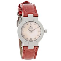 Concord La Scala Diamond Ladies Red Leather Swiss Quartz Watch...