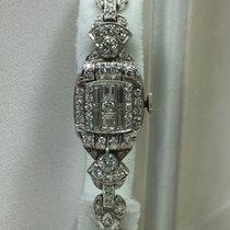 Hamilton Art Deco Platin Diamanten 2,5 ct / Damenuhr/Wertgutac...