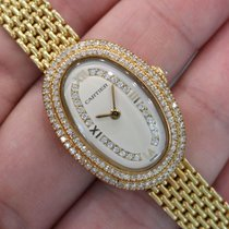 "Cartier - Vintage ""baignoire"" 18k Yellow Gold W/..."
