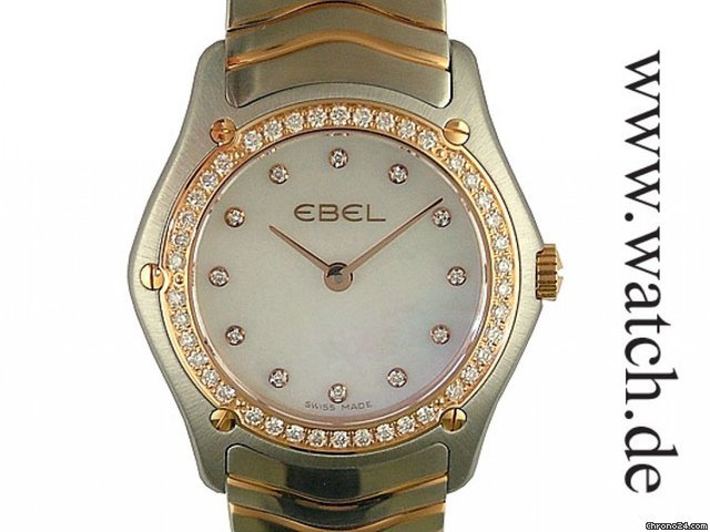 Ebel Classic Lady Stahl/Rosgold Diamond Perlmutt 27mm