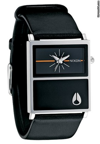 Nixon The Chalet Leather Black ladies watch