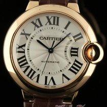 Cartier New Ballon Bleu 36mm 18k Rose Gold W6900456 Silver...