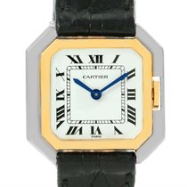 Cartier Tank Paris Ceintire 18k White And Yellow Gold Ladies...