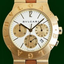 Bulgari Diagono 35mm Date Chronograph 18k Yellow Gold