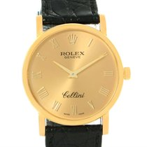 Rolex Cellini Classic 18k Yellow Gold Roman Dial Watch 5115