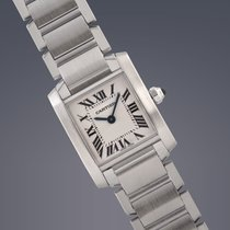 Cartier Ladies Tank Francaise stainless steel quartz watch