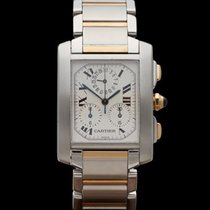 Cartier Tank Francaise Chronograph Stainless Steel/18k Yellow...