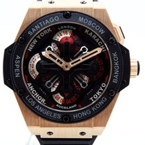 Hublot King Power GMT Unico Rose Gold