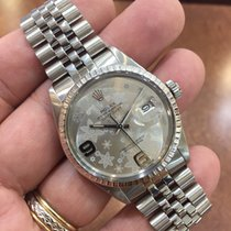 Rolex Datejust  Stainless Steel Watch 36mm Flower Dial