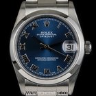 Rolex Stainless Steel Blue Roman Dial Mid-Size Datejust 78240