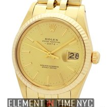 Rolex Oyster Perpetual Date 34mm 14k Yellow Gold Circa 1981...
