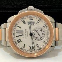 Cartier Calibre Ouro Rosé E Aço White Dial Impecável Completo