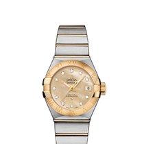 Omega 12320272057002 Constellation 27mm Diamonds Gold Ladies