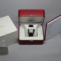 Cartier Santos 100 2656 Black Crocodile 38mm Box & Papers