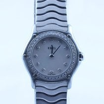 Ebel Classic Wave Damen Uhr Stahl/stahl Mit Brilliant Lünette...