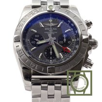 百年靈 (Breitling) Chronomat 44 GMT Chronograph Grey Dial Full...