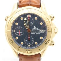 Omega Seamaster Professional 300 Chronograph Solid 18k Yellow...