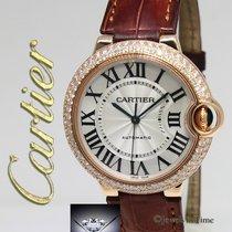 Cartier Ballon Bleu 18k Rose Gold Diamond 36mm Automatic Watch...