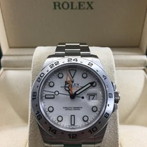 Rolex NEW Explorer II Stainless Steel White Dial 216570