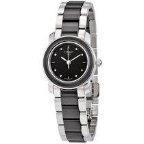 Tissot T-Trend Black Ceramic Diamond Ladies Watch T0642102205600