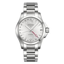 Longines Conquest Silver Dial Stainless Steel Bracelet...