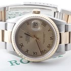 Rolex Mens 18k/SS Datejust - Champagne Dial w/ Oyster Band 16233