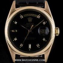 Rolex 18k R/G O/P Rare Black Gloss Dia Dial Vintage Day-Date...