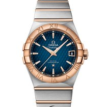 Omega Constellation Co-Axial 38mm Red-Gold/Steel Blue Dial T