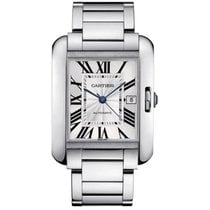 Cartier Tank Anglaise White Gold Watch Retail:$47,900
