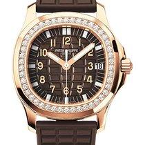Patek Philippe Aquanaut Luce Ladies Rose Gold Diamond Bezel...