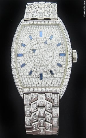 Franck Muller Double Mystery Pave Diamond Watch 6860 Double Mystery