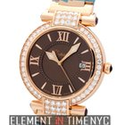 Chopard Imperiale 18k Rose Gold Diamond Bezel Brown Dial 36mm...