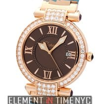 Chopard Imperiale 18k Rose Gold Diamond Bezel Brown Dial 36mm