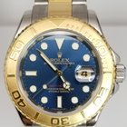 Rolex 16623 b blue Yacht-Master Mens Steel and Gold