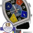 Jacob & Co. Diamond 5 Time Zone Black MOP Stainless...