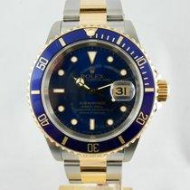 Rolex Submariner Date Acc.oro blu,Steel. Gold blue