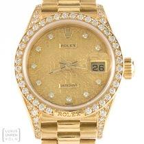 "Rolex Datejust Diamond Crown Collection ""President"""
